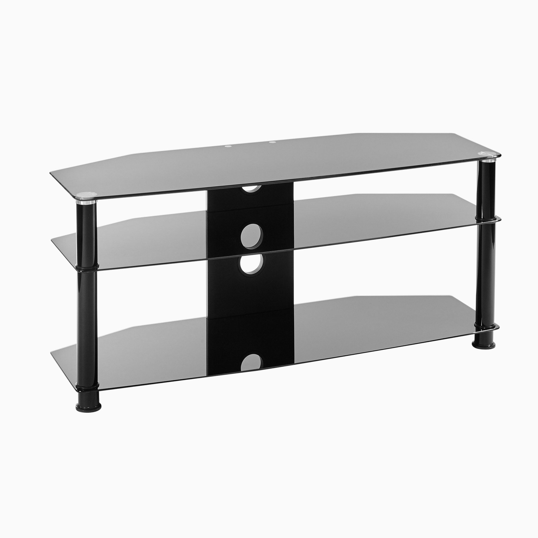Black Glass Corner Tv Stand Up To 37 Inch Tv Mmt Db800