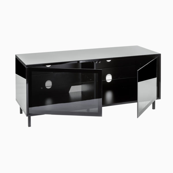 "Inertia Stratos DDSETVC-1200BLK Black gloss TV cabinet for up to 55"" screens"