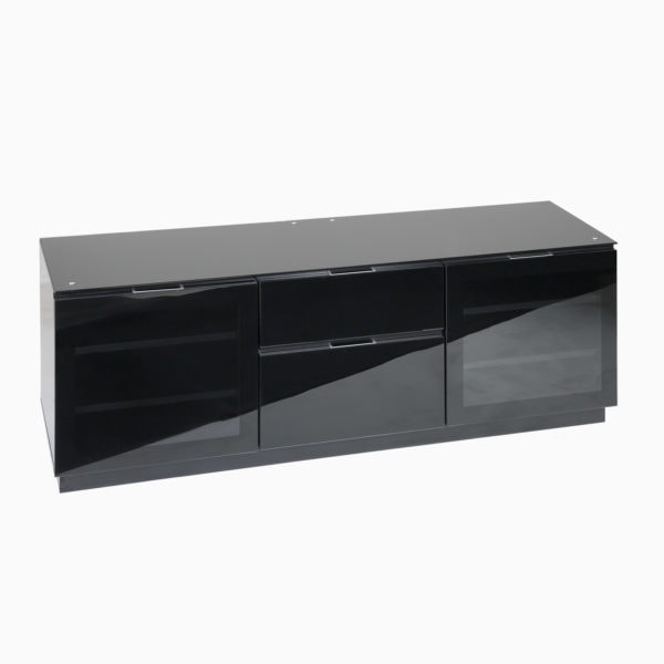 Black gloss TV cabinet for large screens