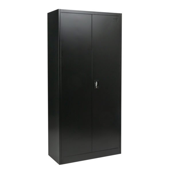 Tall Black Metal Office Cabinet Main